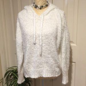 Gorgeous White Hoodie Lauren Conrad Sweater XL NWT